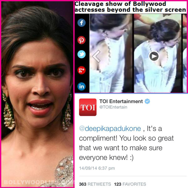 deepika padukone tweets on cleavage
