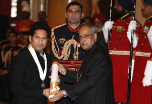 SACHIN INDUCTED INTO DON BRADMAN'S HALL OF FAME