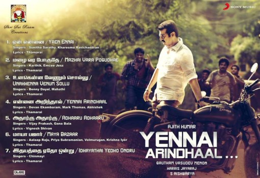 Yennai Arindhaal Songs Download mp3 Songs download free – Ajith