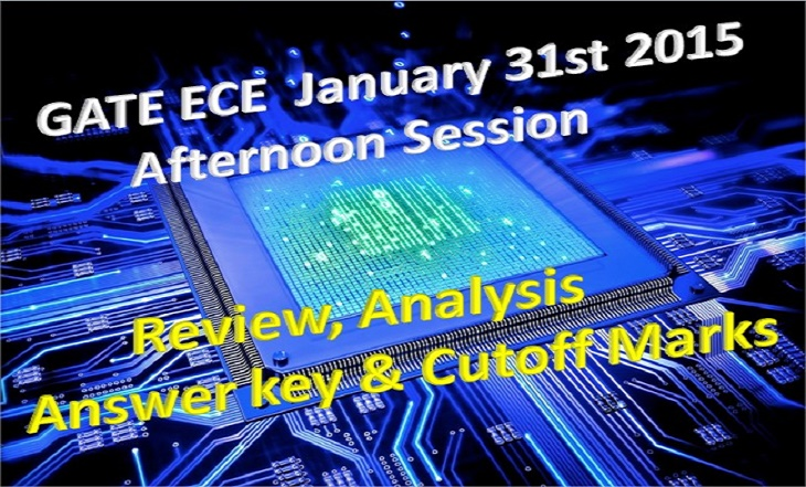 GATE ECE Answer Key 2015 Download 31 Jan EC Afternoon Session Solution