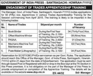 Govt of India Press Santragachi