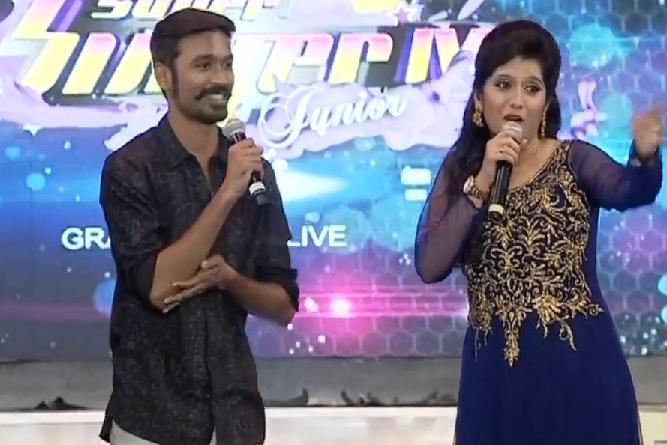 Dhanush Sings a Song on Super Singer