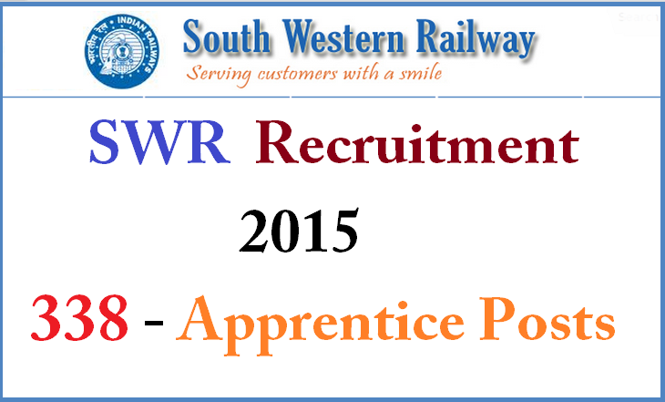 South Western Railway Recruitment 2015,centers list,hall ticket download