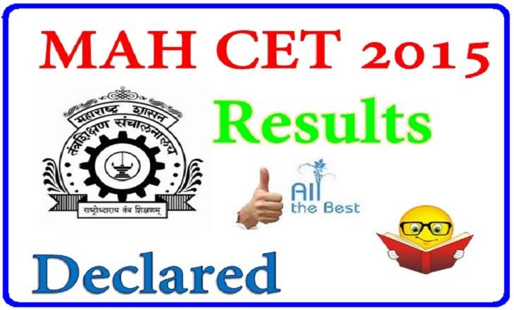 MAH CET Results 2015 Declared DTE MAH MBA/MMS-CET 2015 Result declared