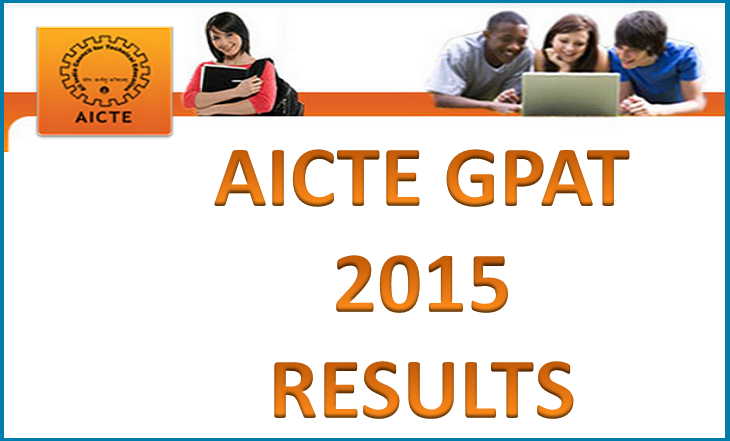 GPAT Results 2015 AICTE GPAT Exam Result Declared