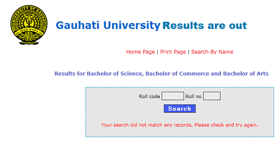 Gauhati University Result 2015, Check BA ,B.Com,B.Sc Results