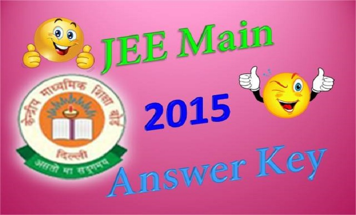 JEE Main 2015 answer key download