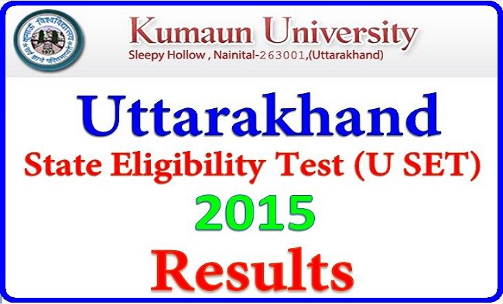 (USET)Uttarakhand State Eligibility Test 2015 Result Declared