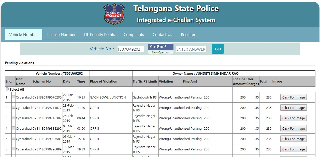 How to pay TS E CHALLAN PAY ONLINE