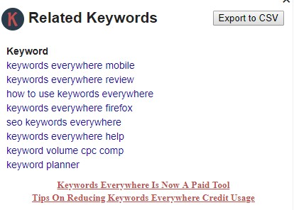 Why Keywords everywhere not showing search volume data, cpc, competition
