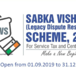 Sabka Vishwas-Legacy Dispute Resolution Scheme, 2019